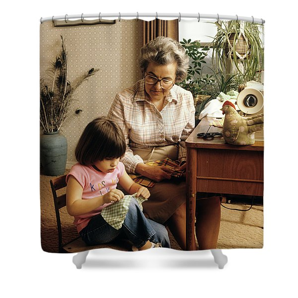 1970s Grandmother And Granddaughter Shower Curtain