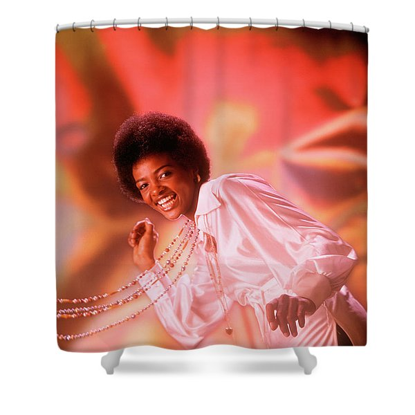 1970s Laughing Young African American Shower Curtain