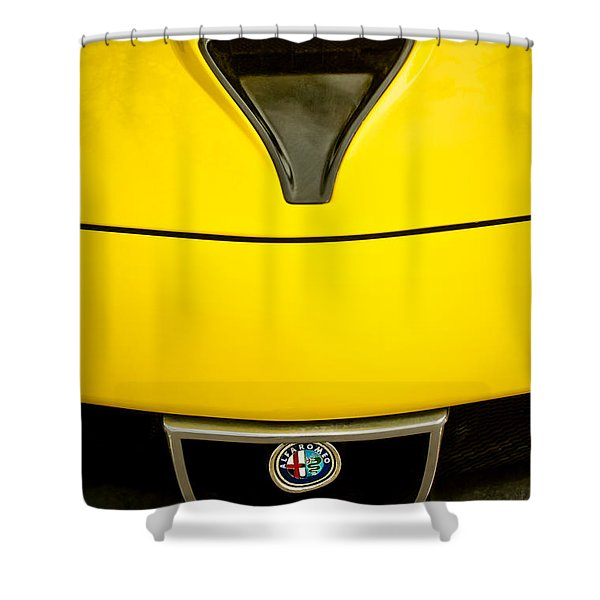 1972 Alfa Romeo Montreal Hood - Grille Emblem -0172c Shower Curtain
