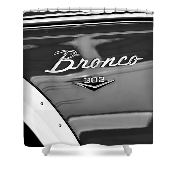 1972 Ford Bronco Emblem Shower Curtain