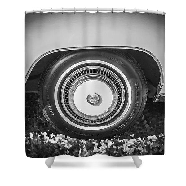 1978 Cadillac Eldorado Bw Shower Curtain