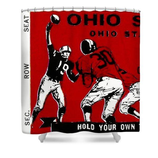 1979 Ohio State Vs Wisconsin Football Ticket Shower Curtain