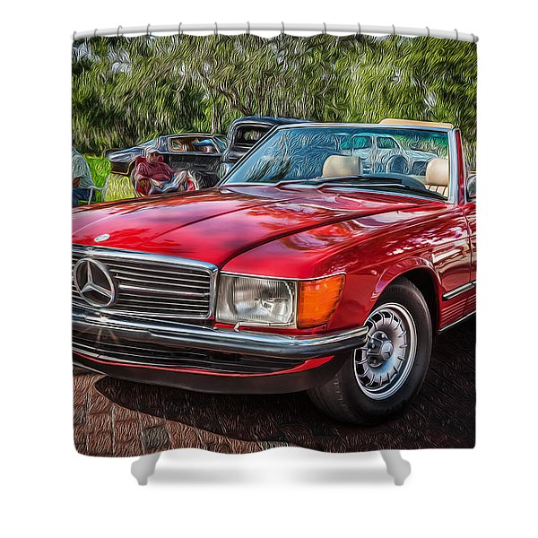 1984 Mercedes 500 Sl Painted  Shower Curtain