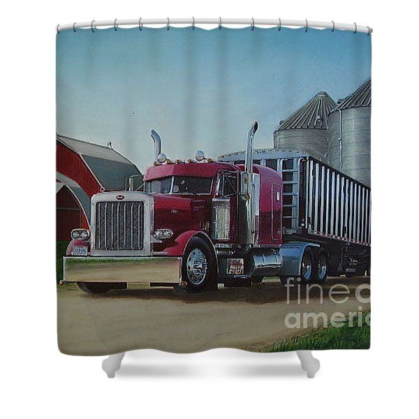 1998 Peterbilt 379 Shower Curtain