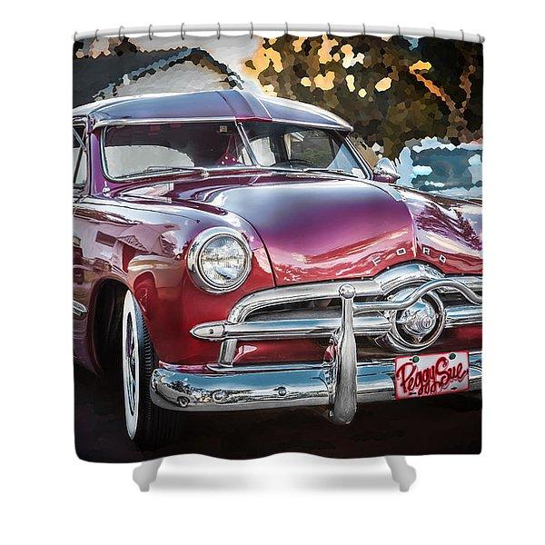 1949 Ford 2 Door Custom  Shower Curtain
