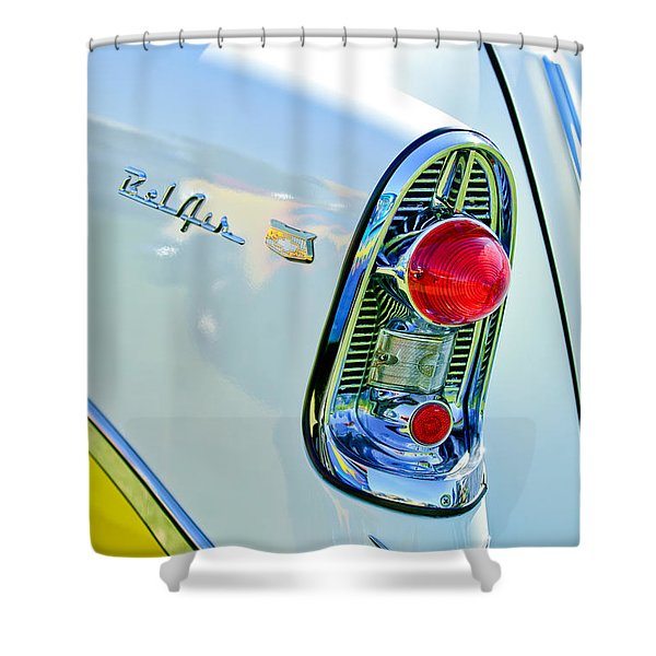 1956 Chevrolet Belair Nomad Taillight Emblem Shower Curtain