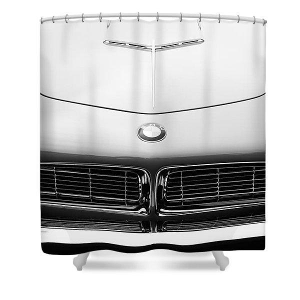 1958 Bmw 507 Series II Roadster Hood Emblem Shower Curtain