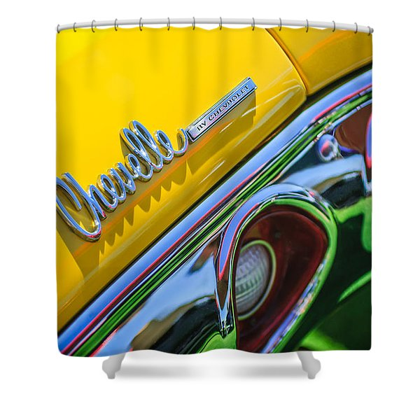 1972 Chevrolet Chevelle Taillight Emblem Shower Curtain