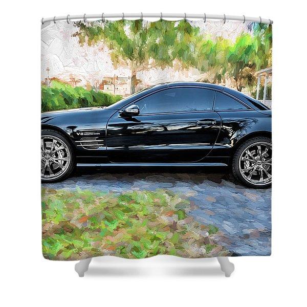 2006 Mercedes Benz Sl55 V8 Kompressor Coupe Painted  Shower Curtain