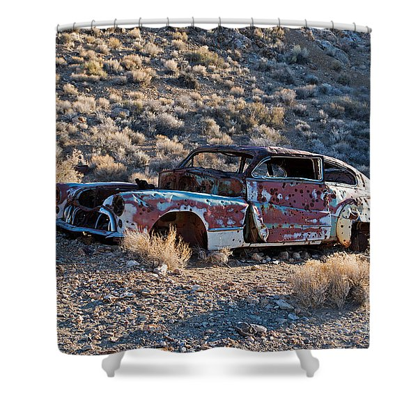 Aguereberry Camp Death Valley National Park Shower Curtain