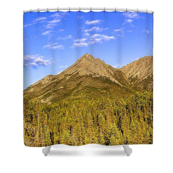 Alaska Mountains Shower Curtain