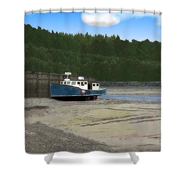 Alma Harbor Shower Curtain
