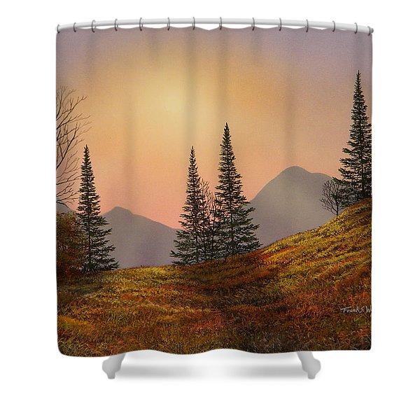 Alpine Sunset Shower Curtain