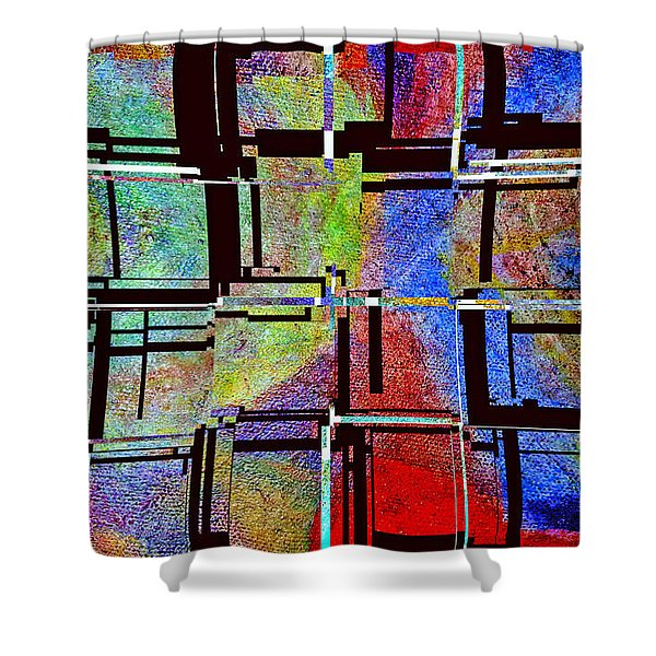 Altered Circles Shower Curtain