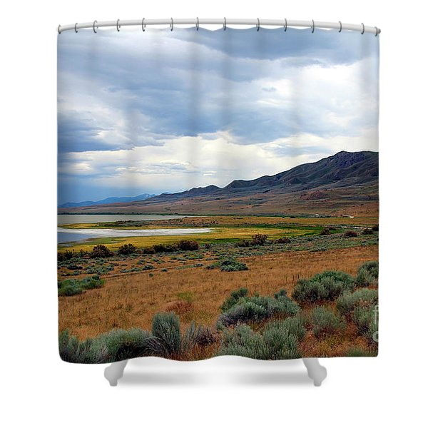 Shower Curtain featuring the photograph Antelope Island by Jemmy Archer