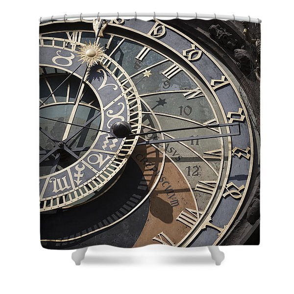 Astronomical Clock Prague Shower Curtain