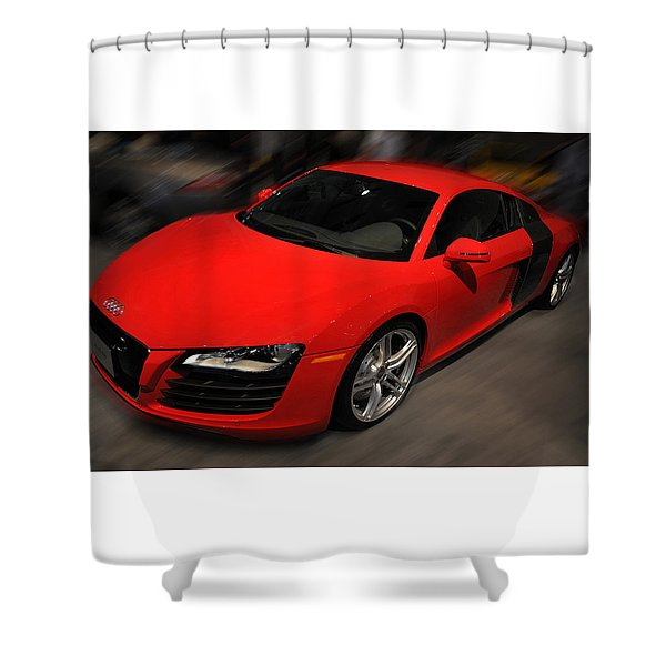 Audi R8 Shower Curtain