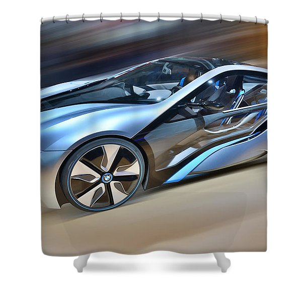 B M W  Edrive I8  Concept  2014 Shower Curtain