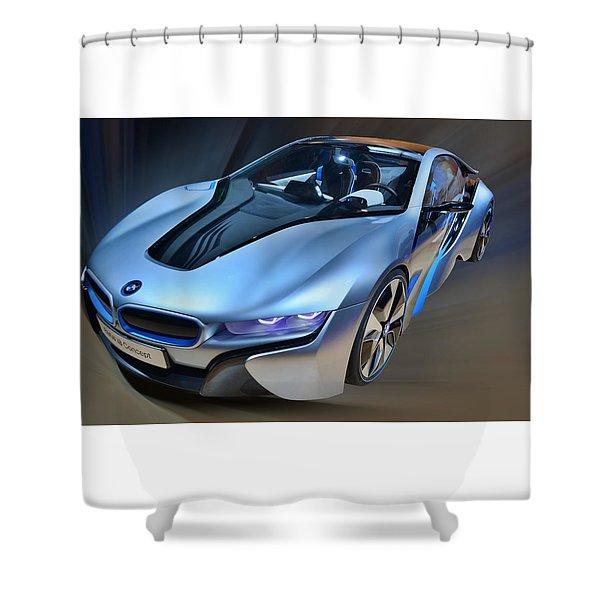 B M W  I8  Concept  2014 Shower Curtain