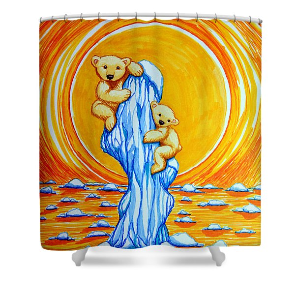 Bearly Hanging On Shower Curtain