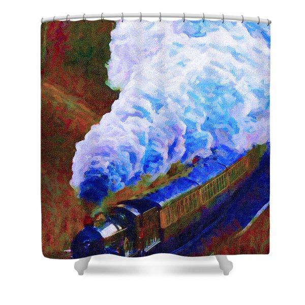 Billowing Shower Curtain