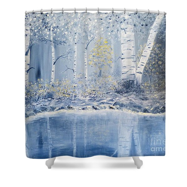 Birch Reflections Shower Curtain