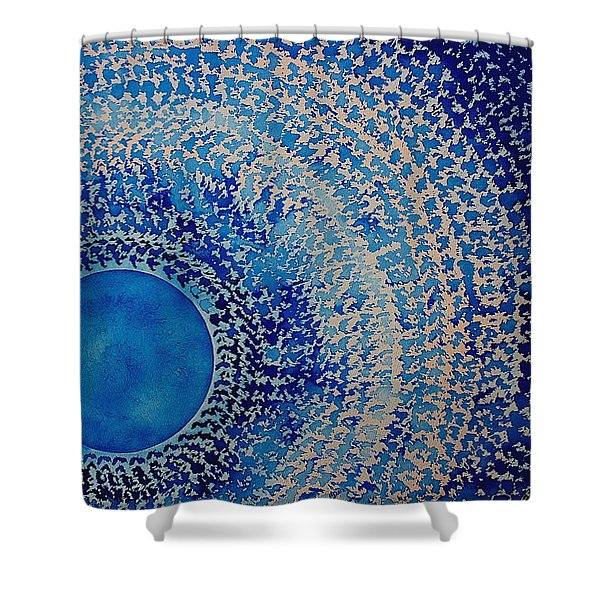Blue Kachina Original Painting Shower Curtain