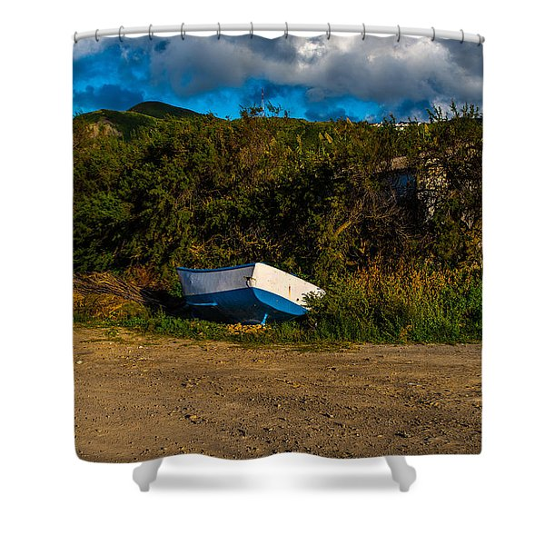 Boat At Rest Shower Curtain