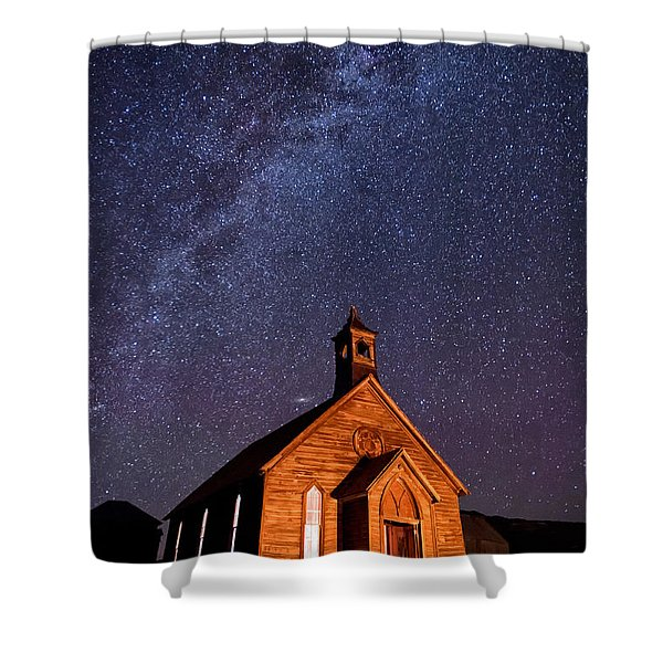 Bodie Church Shower Curtain