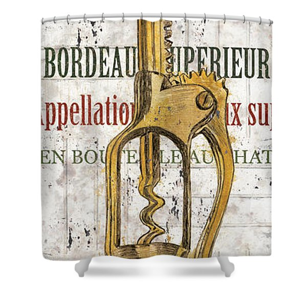 Bordeaux Blanc 2 Shower Curtain