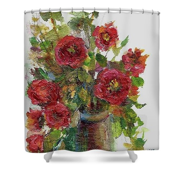Bouquet Of Poppies Shower Curtain