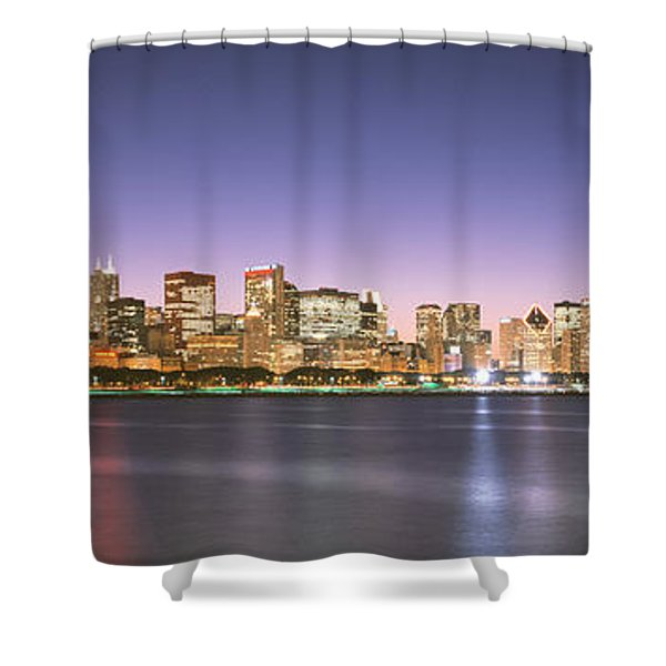 Buildings At The Waterfront, Chicago Shower Curtain