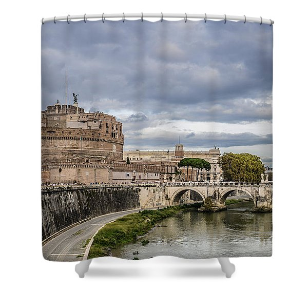 Castle St Angelo In Rome Italy Shower Curtain