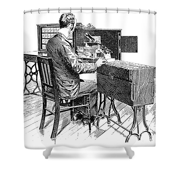 Census Machine, 1890 Shower Curtain