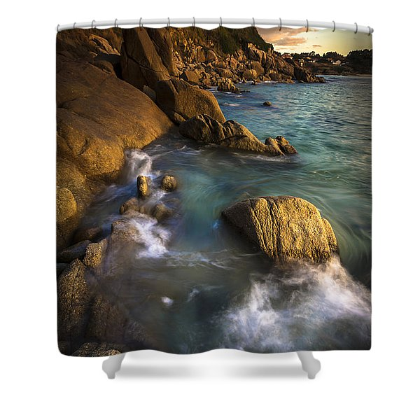 Chanteiro Beach Galicia Spain Shower Curtain