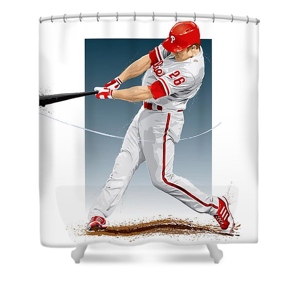 Chase Utley Shower Curtain