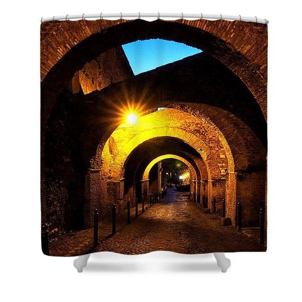 Shower Curtain featuring the photograph Clivo Di Scauro by Fabrizio Troiani