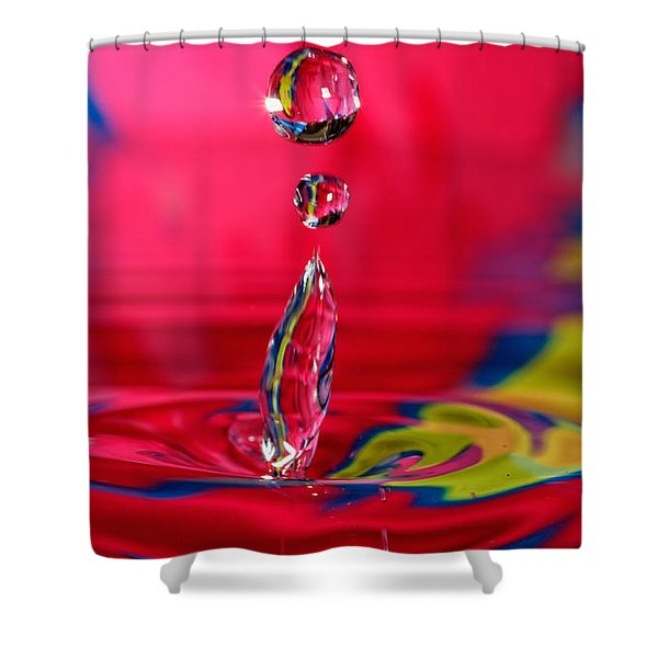 Colorful Water Drop Shower Curtain