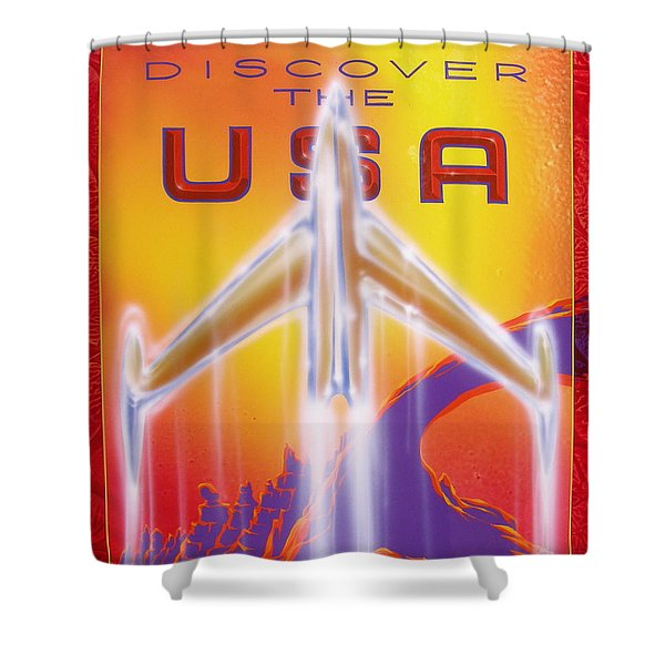 Discover The Usa Shower Curtain