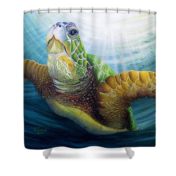 Diving The Depths Shower Curtain