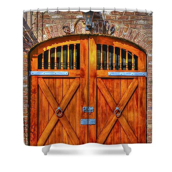 Doors Of Charleston Shower Curtain