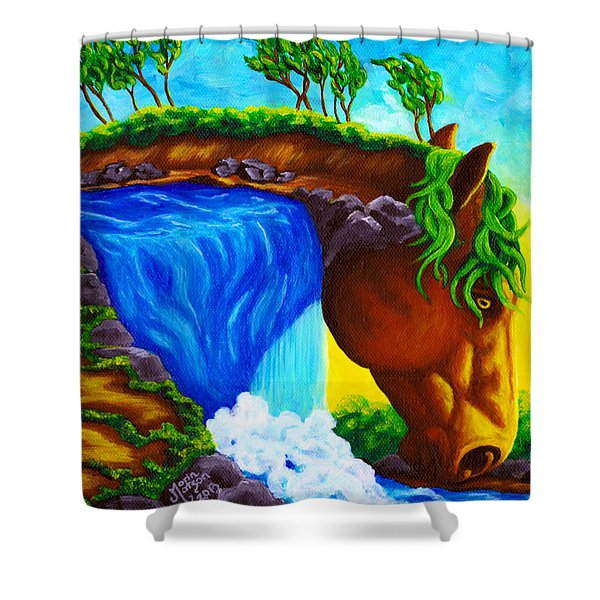 Equifall Shower Curtain