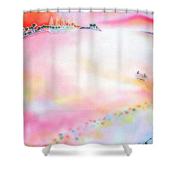 Evening Cruise Shower Curtain