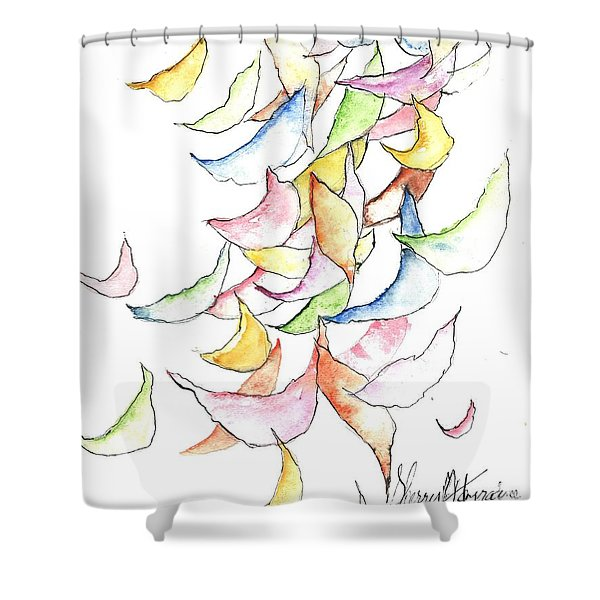 Falling Into Place Shower Curtain