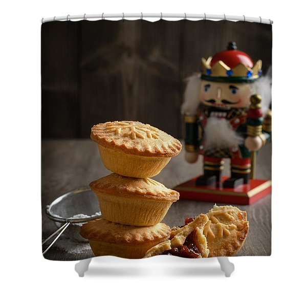 Festive Mince Pies Shower Curtain