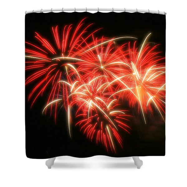 Fireworks Over Kauffman Stadium Shower Curtain