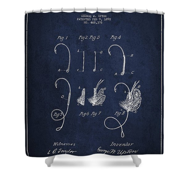 Fishing Fly Patent Drawing From 1892 Shower Curtain