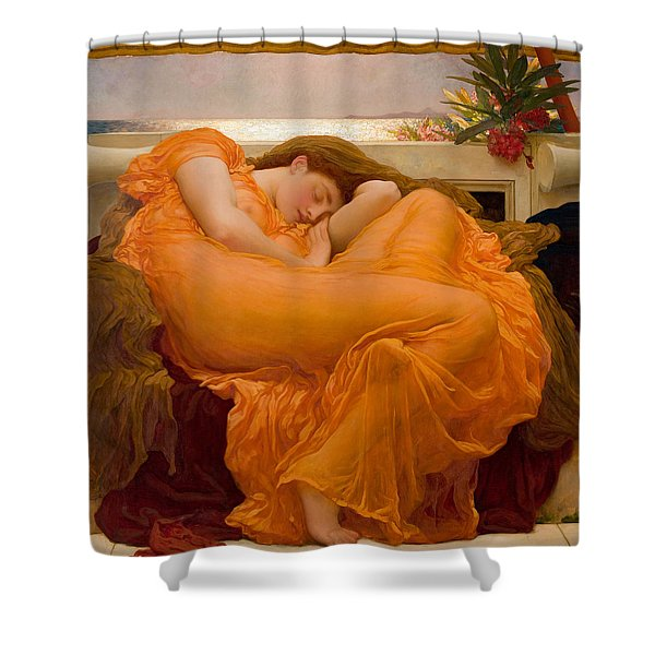 Flaming June Shower Curtain