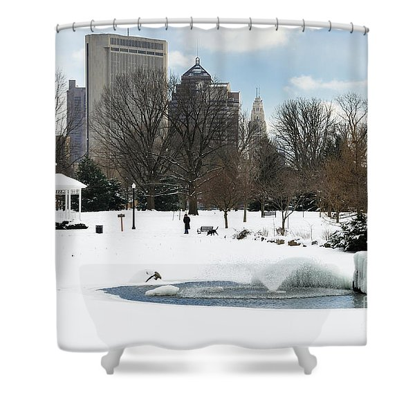D48l3 Goodale Park Photo Shower Curtain