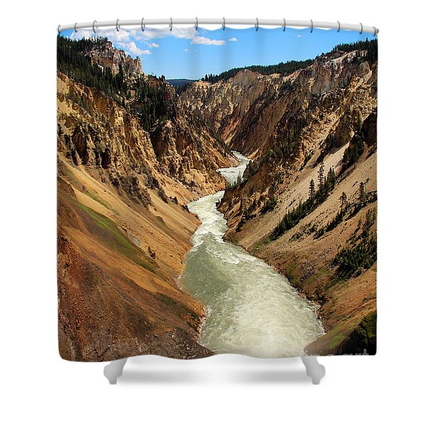 Shower Curtain featuring the photograph Grand Canyon Of Yellowstone by Jemmy Archer
